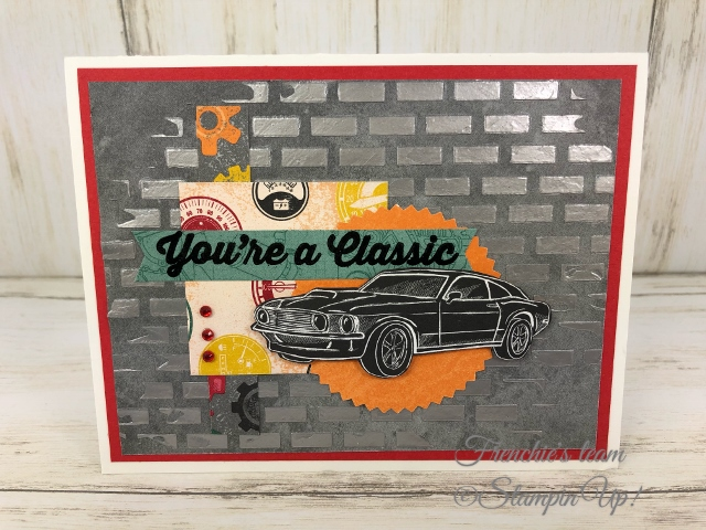 Geared up Garage Stamp set, Garage Gears Die and Classic Garage Challenge with Frenchie's Team. All product by Stampin'Up! available at frenchiestamps.com