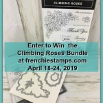Visit my blog at frenchiestamps.com to enter in the giveaway. I will have a drawing on April 10 2019 for the Wonderful Romance bundle by Stampin