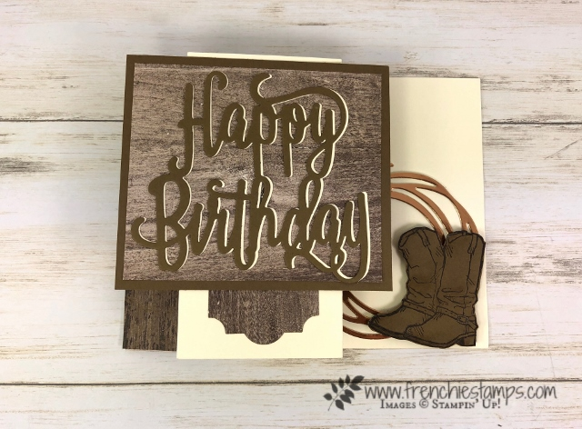 Happy Birthday with County Livin' . Happy Birthday and Swirly Scribbles Die. All product by Stampin'Up! available at Frenchiestamps.com