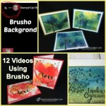 12 video showcasing 12 different way to use the Brusho with frenchie at frenchiestamps.