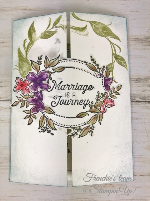Frenchie's Team been challenge to make wedding card and graduation card. Come check it out at frenchiestamp.com sweet storybook