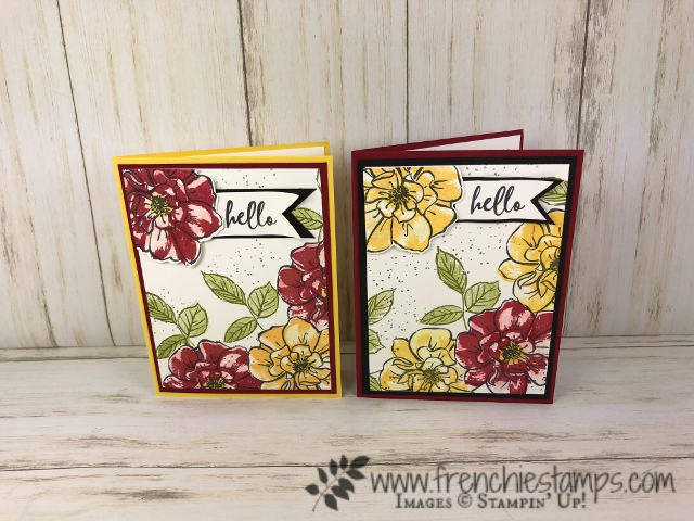 How to make a pop up flower corner using the To A Wild Rose stamp set and  Wild Rose die. All products by Stampin'Up! available at frenchiestamps.com