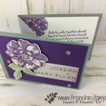 To A Wild Rose stamp set. Perfect for Mary Ellen wedding. This stamp set was inspired by Mary Ellen Byler. Products by Stampin