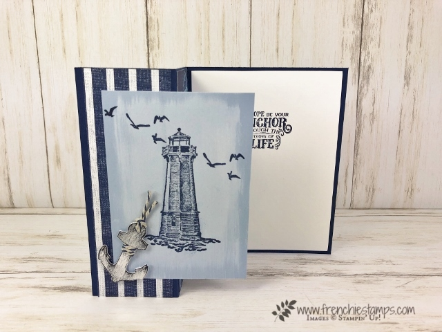 While Ink Back ground technique. Stamp Set Sailing Home. All product by Stampin'Up! available at frenchiestamps.com