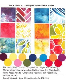 See A Silhouette Designer Paper by Stampin'Up! chart available at frenchiestamps.com