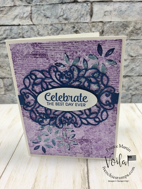 Detailed Band with Band Together and Tasteful Texture. Great combination all together. All supplies by stampin'Up! available at frenchiestamps.com #stampinup #stamping #frenchiestamps #cardmaking #papercrafts #handmadecards #detailedbandsdies