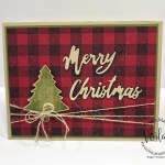 Great combination with Perfectly Plaid and Buffalo Check for Christmas cards. All supplies are from Stampin