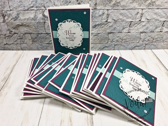 Welcome to our Stampin'Up! family with free shipping. This card is using Stitched Labels dies. Product by Stampin'Up! available at frenchiestamsps.com  #stampinup #stamping #frenchiestamps #cardmaking #papercrafts #handmadecards