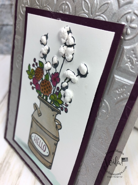 Puff Paint For the Cotton Plan in Country Home Stamp Set