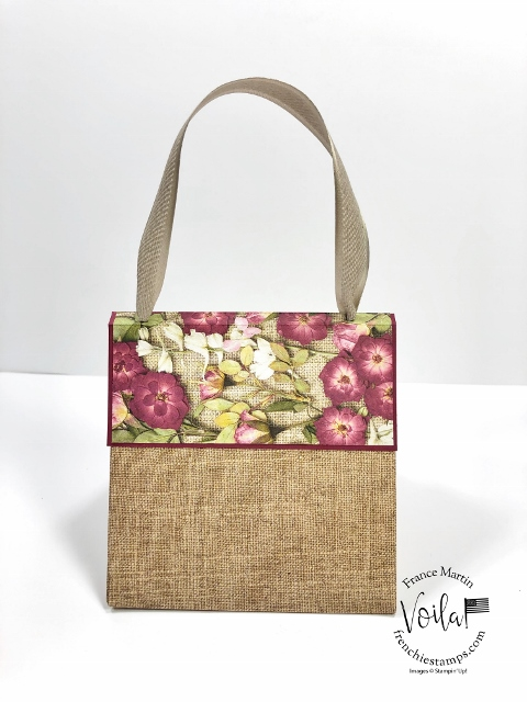 One Sheet Pressed Petals specialty Specialty designer paper purse.