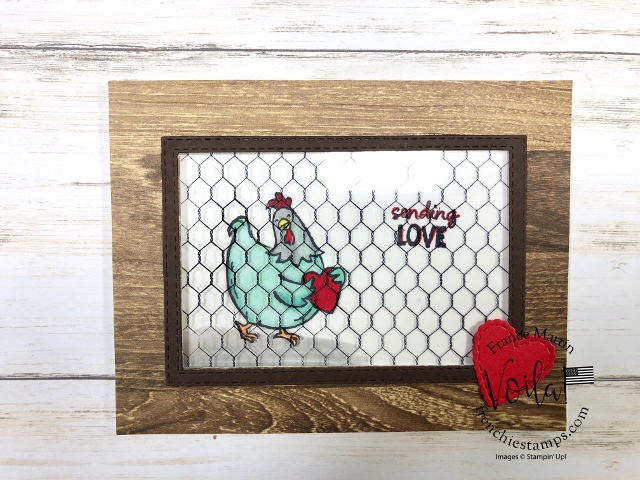 Window card for a faux wired window. Using the All Wired Up and Birds of Feathers stamp set.