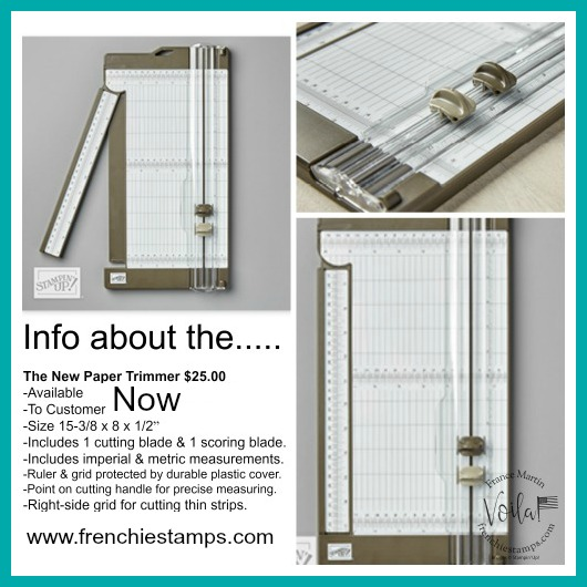 Tip for the new Paper Trimmer by Stampin'Up!