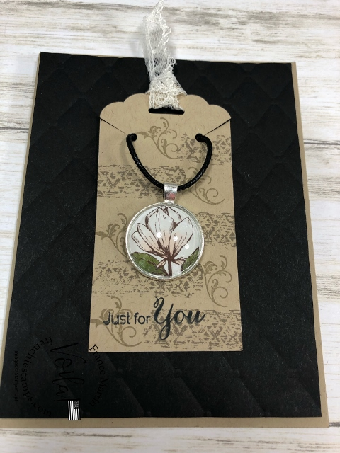 How to add designer paper to a pendent tray.