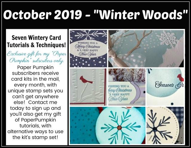 Winter Woods Paper pumpkin extra inspiration.