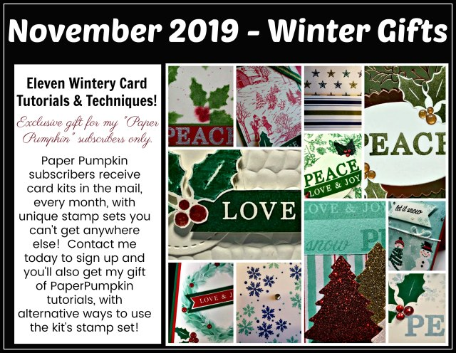 Winter Gifts Stampin'Up! Paper pumpkin extra inspiration.