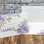 Quick and simple card with Beautiful Friendship. Emboss with the Parisian Flourish or Coastal Weave 3D embossing Folder.