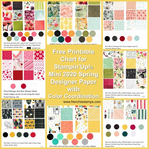 Designer Series Paper Chart for the Spring Mini Catalog