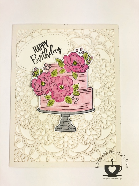 Frenchie's Team in the spotlight showcasing card using Sale a Bration 2020 product