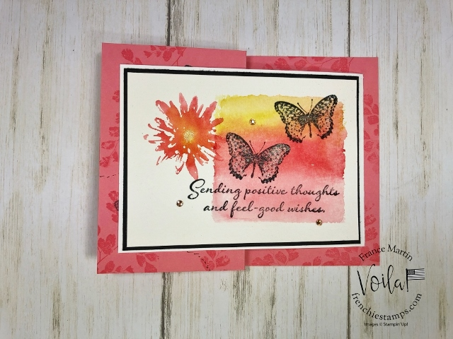 Double Fold with Positive Thoughts. Technique Clear Block Background.