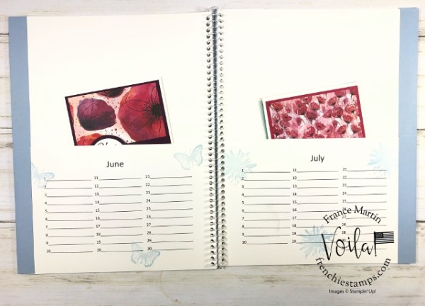 Card Keepers Calendar. Book with pocket and calendar. Download available at frenchiestamps.com
