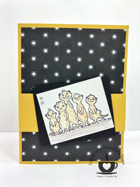 Card showcasing the Golden Honey Designer Series Paper