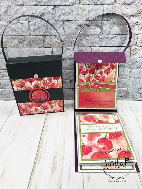 Peaceful Poppies Flip Purse To Hold Cards