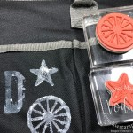 How to stamp on fabric with Stampin
