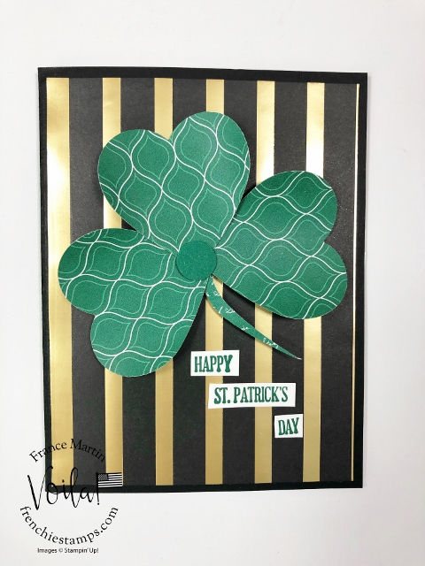 St-Patrick's Day card with a heart punch for a Shamrock.