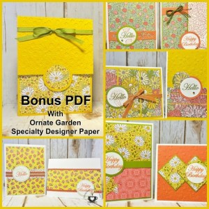 Frenchie's Customer Appreciation for April 2020. A One Sheet wonder to make 8 card plus a box to hold cards.