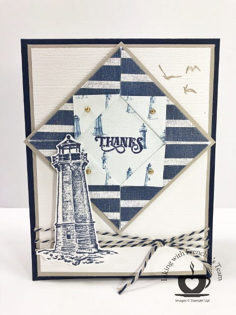 Frenchie's team in the spotlight. Showcasing masculine cards. Bundle Sailing Home.