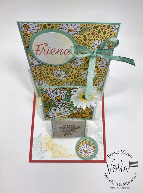 Triple Easel Card with the Ornate Garden Designer Paper.