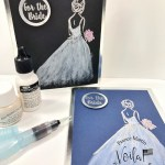 How to add length and shimmer to the bride dress from the stamp set Wonderful Moments.