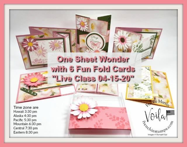 One Sheet Wonder with Fun Fold Class