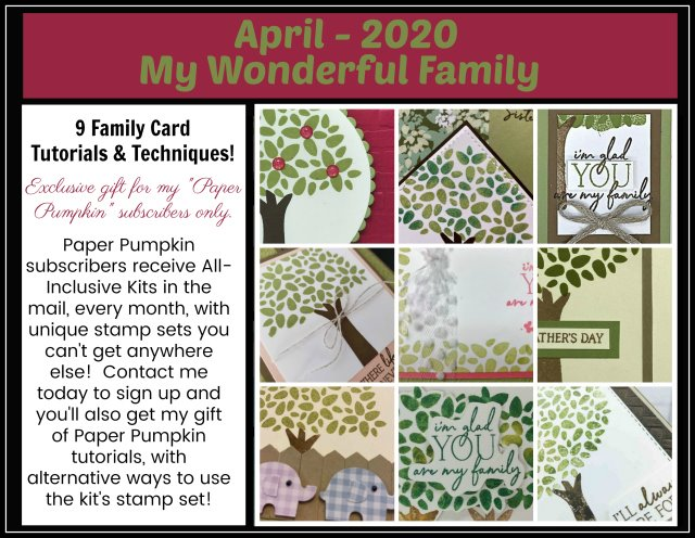 My Wonderful Family Stampin'Up! Paper pumpkin extra inspiration.