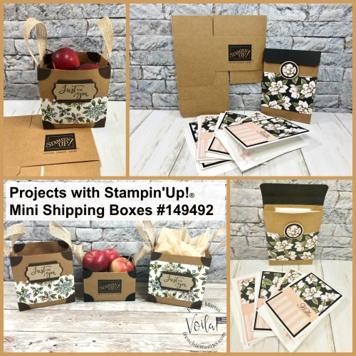 Mini Shipping Box by Stampin'Up!® perfect for teat giving, card holder and much more.