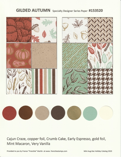 Gilded Autumn 2020 Holiday Designer Paper.
