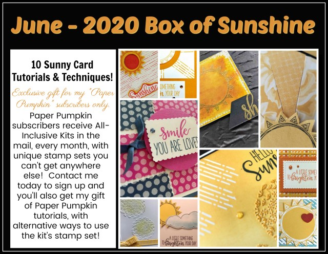 Box Of Sunshine Paper Pumpkin extra.