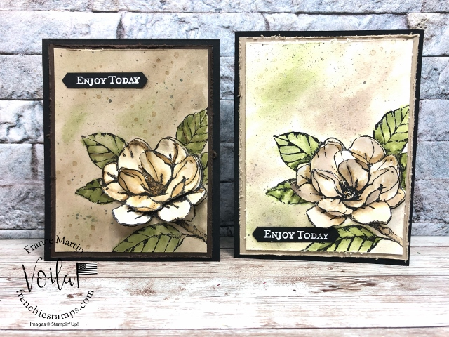 Vintage Watercolor Good Morning Magnolia Stamp Set.