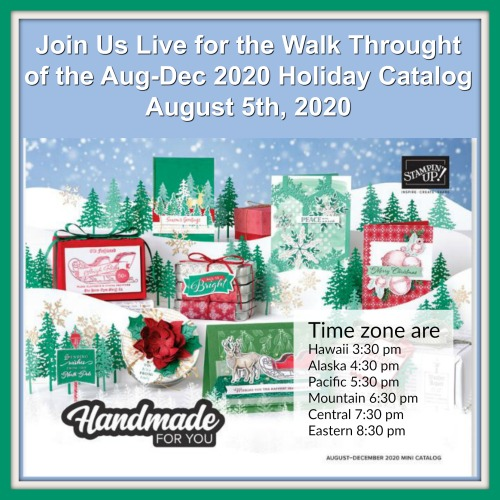 Walk Through of the Holiday Aug- Dec 2020 Catalog Live On YouTube