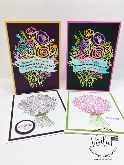 Tips with the Hand-Drawn Blooms on the In-Color Cards