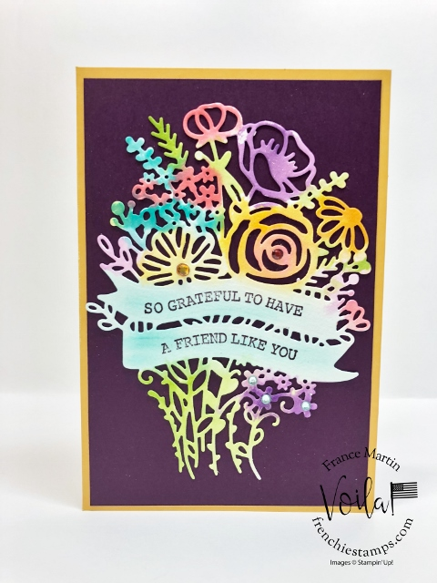 Tip for the Hand-Drawn Blooms Bundle. Watercolor with the detailed die cut.