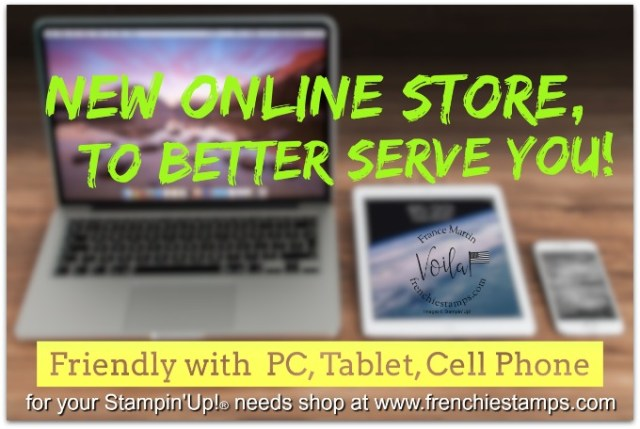 New Stampin'Up! Online Store. Friendly with PC, Table, Cell Phone.