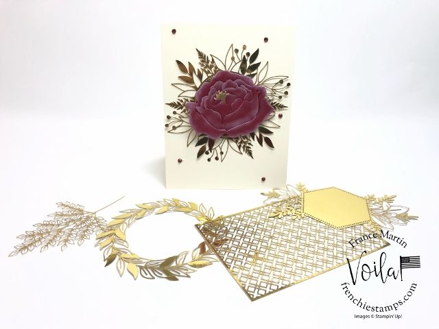 Tip to assemble the Peony dies. Great combo with the Forever Gold Laser cut