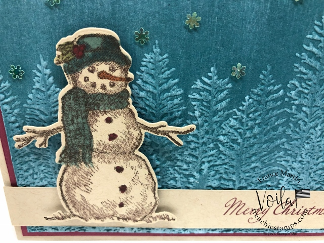 Vintage Card with Snow Wonder stamp set.
