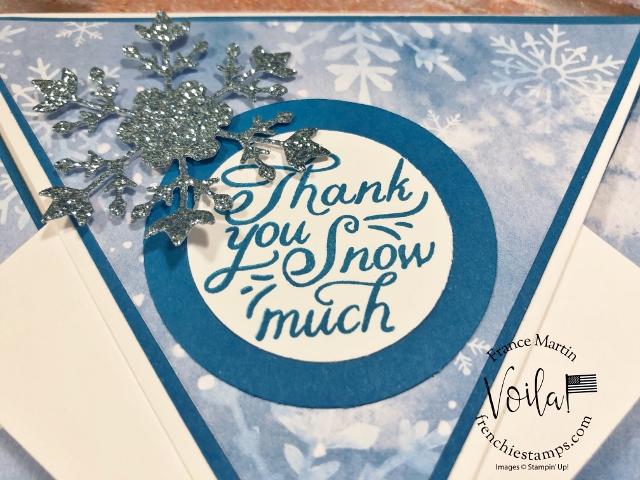 Arrow Fold Card with Snowflake Splendor Designer Paper.
