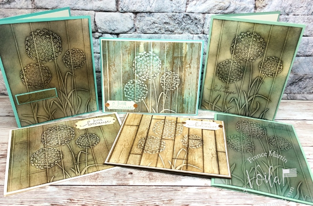 Faux Wood Carving with Dandelions Embossing Folder