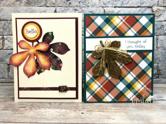 Love of Leaves Shaker card and Faux Wax Press and Seal.