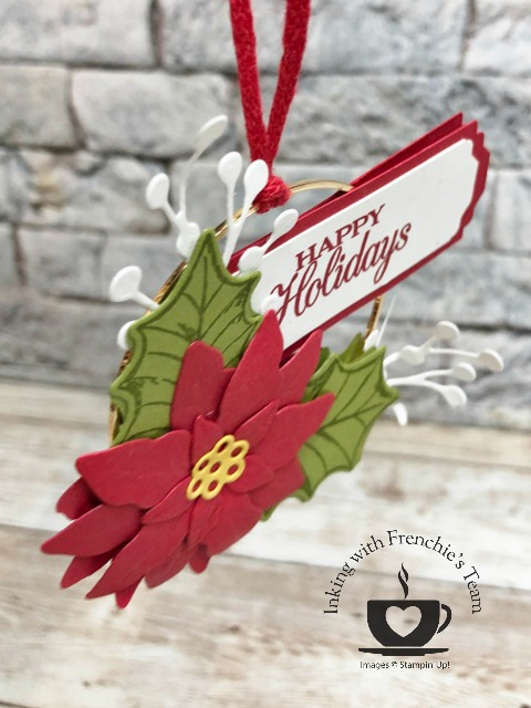 Christmas Ornament with the Poinsettia.