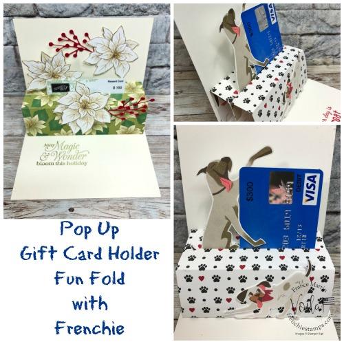Pop Up Gift Card Hold Fun Fold Card