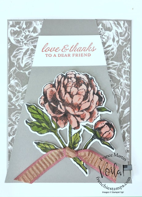 Skylight Diagonal Fun Fold and Prized Peony Stamp Set